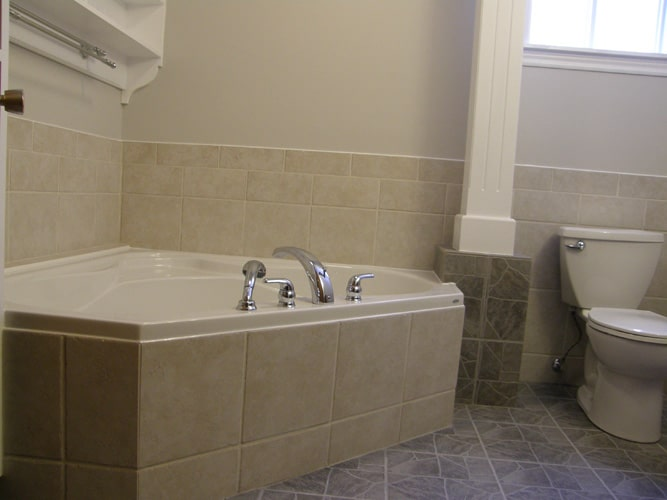 Ceramic tile bath tub jacuzzi